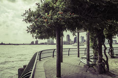 A privy corner in Battery Park Royalty Free Stock Photos