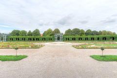 Privy Garden, Schonbrunn Palace. The Privy Garden, known in German as the Crown Prince Rudolf Garden, is part of the Meidling Kammergärten which lie immediately Stock Image