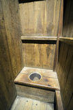 Privy. Medieval privy at Malbork castle, Poland Stock Photos