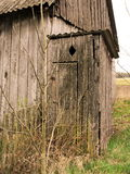 Privy. Wooden old privy - toilet, wc Royalty Free Stock Images
