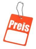 Prix à payer allemand Photographie stock