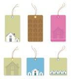 Prix à payer avec des maisons. Images stock