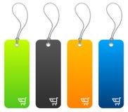 Prix à payer d'achats dans 4 couleurs Image libre de droits
