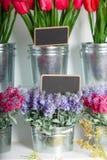 Prix à payer de fleuristes Images stock