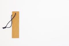 Prix à payer de papier blanc de Brown Photo stock