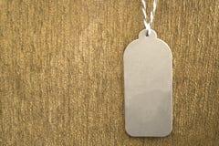 Prix à payer de papier gris Images stock