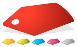 Prix à payer, icône de label dans plusieurs couleurs Ventes, promotion, marke illustration stock