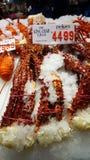Prix à payer sur des jambes de limule chez Sydney Fish Market Photo stock