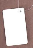 prix d'étiquette de papier blanc Images stock