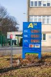 Prix de carburant Image stock