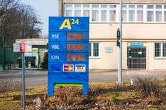 Prix de carburant Photos stock