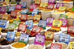 Prix de denrées alimentaires photographie stock libre de droits