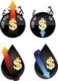 Prix de pétrole Image stock