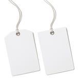 Prix de papier blanc ou ensemble d'étiquette de cadeau d'isolement Photographie stock libre de droits