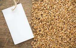 Prix de texture et d'étiquette de blé Photo libre de droits