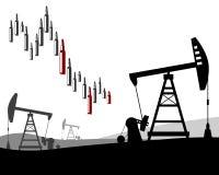 Prix du pétrole en baisse photographie stock libre de droits