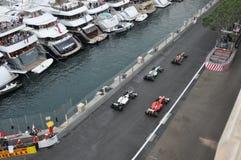 Prix grand Monaco 2012 - défilé supplémentaire de véhicule des genoux Images libres de droits