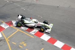 Prix magnífico Mónaco 2009, queso de cerdo de Jenson Button Foto de archivo