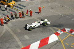 Prix magnífico Mónaco 2009, queso de cerdo de Jenson Button Imagenes de archivo