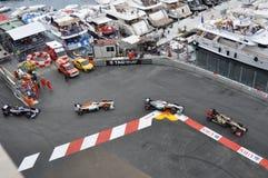 Prix magnífico Mónaco 2012 - coches en duelo Foto de archivo