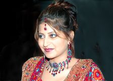 Priya ως Ινδό νυφικό Στοκ Εικόνες