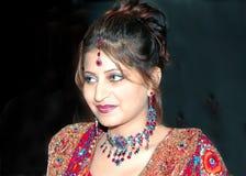 Priya como indio nupcial imagenes de archivo