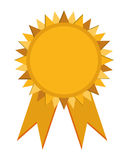 Prize badge with ribbons icon Royalty Free Stock Image