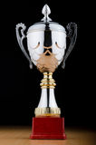 Prize cup against the background Royalty Free Stock Photo