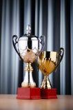 Prize Cup auf dem Hintergrund Lizenzfreie Stockfotografie
