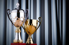 Prize cup on the background Stock Photos