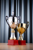 Prize cup on  the background Royalty Free Stock Photography