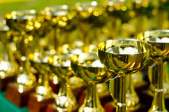 Prize cups Stock Photography
