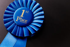 The prize for first place on a dark background Royalty Free Stock Photos