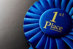 The prize for first place on a dark background Stock Image