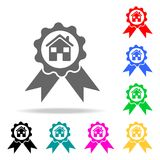 Prize house icon. Elements of real estate in multi colored icons. Premium quality graphic design icon. Simple icon for websites, w. Eb design, mobile app, info Stock Photography