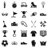 Prize icons set, cartoon style. Prize icons set. Cartoon set of 25 prize vector icons for web isolated on white background Stock Images