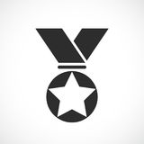 Prize medal vector icon. Illustration Royalty Free Stock Photography