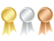 Prize medals. With ribbons. Please check my portfolio for more rosette illustrations stock illustration
