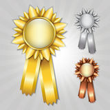 Prize ribbons Royalty Free Stock Photos