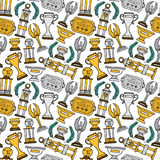 Prize seamless pattern Stock Photos