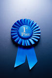 The prize for second place on a blue background Stock Photo
