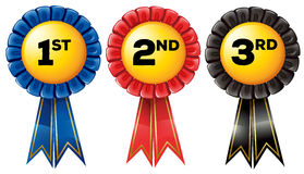 Prize tag in three color Royalty Free Stock Images