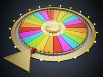 Prize wheel. With empty slices on black background royalty free illustration