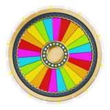 Prize wheel. With empty slices on white background royalty free illustration