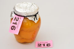 Prize winning jar of fruit Stock Photos