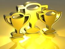 Prize Zeichen des Gold3d Stockbilder