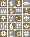 Prizes and awards icons. This is a collection of Prizes and awards icons Stock Photos