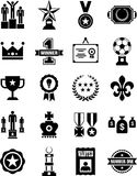 Prizes and awards icons. This is a collection of Prizes and awards icons Stock Photography