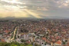Prizren en la puesta del sol Foto de archivo