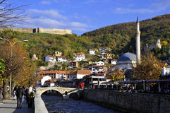 Prizren, modern and historic city. Autumn in the historical city of Prizren, Kosovo. Prizren is a modern and historic city located in Kosovo. Prizren is the seat Stock Images
